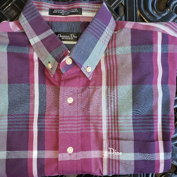 Dior Other - Vintage Christian Dior Short Sleeve Button Down